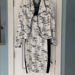 Dress and matching jacket set
